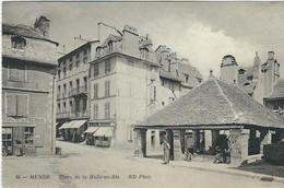 LOZERE : Mende, Place De La Halle Aux Blés, Prise De Vue Pas Courante... - Mende