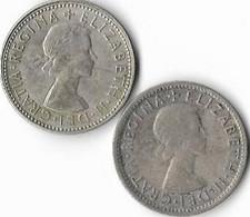 Australie  1 Shilling  Elisabeth II , Lot De 2 1953 (m) , 1954 (m) (m) Melbourne. , - Shilling