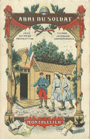 34 CARTE FANTAISIE DESSIN DE VALAT ABRI DU SOLDAT MONTPELLIER 1915 A  VOIR - Montpellier