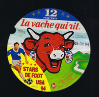 étiquette Fromage La Vache Qui Rit Bel 12  Portions 200g Stars De Foot USA 94 Date 26 09 94 - Formaggio