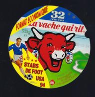 étiquette Fromage La Vache Qui Rit Bel 32  Portions 535g Stars De Foot USA 94 Date 05 09 94 Format économique - Formaggio
