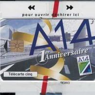 SNAP - A14 - AUTOROUTE - DEC 97 - 5 Unités - France - VOITURE - CAR - AUTO - AUTOMOBILE - Non Classés