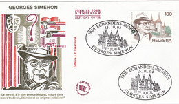 FDC 15/10/1994: Georges SIMENON - Emission Suisse - 1990-1999