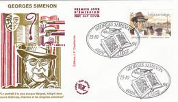 FDC 15/10/1994: Georges SIMENON - Emission Belge - 1990-1999