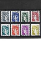 279-1 FRANCE Lot De 8 Timbres Sabine De Gandon YT1962-1963-1964-1965-1966-1968-1969-1971 NEUF ** - 1977-81 Sabine De Gandon
