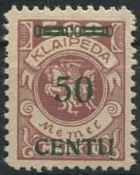 1333) Memel MiNr.: 173 A I Geprüft Erstfalz - Coordination Sectors
