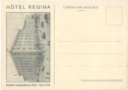 Cpa Pub Hôtel Regina, Bologna ( Italie ) 10,8x15,2 Cms - Reclame