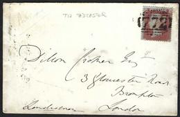 GRANDE BRETAGNE 1854: LSC De Tadcaster (772) Pour Londres Affr. Avec Le Y&T 8 - Brieven En Documenten