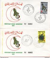 Maroc ; 2 FDC 1971; Croissant Rouge Marocain;Morocco,Marruecos - Morocco (1956-...)
