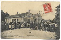 33-ST-VIVIEN-MEDOC-Batiments Et Groupes Scolaires...  1911  Animé  (coin Pli) - Otros Municipios