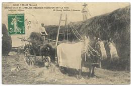 33-TALAIS-Ancien Char Et Attelage Médocain Transportant Le Foin...1910  Animé  (défaut, Coin Pli) - Otros Municipios