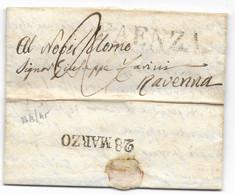 DA FAENZA A RAVENNA - 23.3.1845. - 1. ...-1850 Prephilately