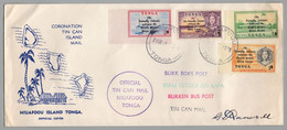 TONGA - NIUAFOOU - TIN CAN MAIL /1968 NON DENTELES SURCHARGES SUR LETTRE - US PEACE CORPS (ref GF238) - Tonga (...-1970)