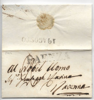 DA FAENZA A RAVENNA - 18.8.1846. - 1. ...-1850 Prephilately