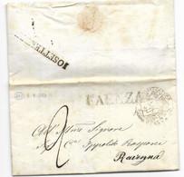 DA FAENZA A RAVENNA - 8.9.1853.. - 1. ...-1850 Prephilately