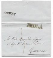 DA IMOLA A RAVENNA - 2.3.1849.. - 1. ...-1850 Prephilately
