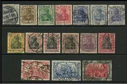GERMANIA REICH 1905 / 15 - ALLEGORIA - N. 81 . . . Usati - F.1 - Cat. 39,50 € - Lotto N. 3380 - Gebruikt