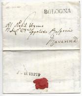 DA BOLOGNA A RAVENNA - 3.7.1843. - 1. ...-1850 Prephilately