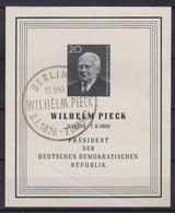 GERMANIA DEMOCRATICA DDR 1960 MORTE DI WILHELM PIECK UNIF. BF16 USATO VF - FDC: Hojas
