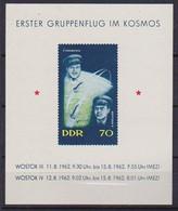 GERMANIA DEMOCRATICA DDR 1962 PRIMO VOLO SPAZIALE DI GRUPPO UNIF. BF17 MNH XF - FDC: Hojas