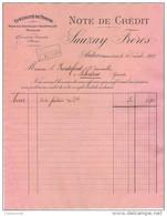 71 AUTUN FACTURE 1909 Spécialité De POMPES Machines Agricoles SAUZAY Frères * S7 - Agriculture