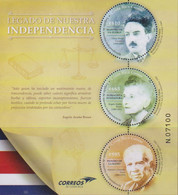 COSTA RICA, 2020, MNH, LEGACY OF INDEPENDCE, PROMINENT COSTARICANS, RADIO PIONEERS, SUFRAGISTS, TEACHERS, SLT - Other