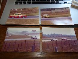 Lot De 8 Photos Originales Circuit De Nivelles 1975 Simca Rallye 2 Toyota Celica Fiat 128 Escort RS2000 - Automobiles