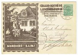 Entier 30 Ct - Mondorf Les Bains - Grand Duché De Luxembourg - 1927 - Cartas