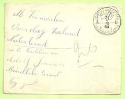 Brief Stempel PMB 6 Op 24/5/15, Naar OVERSLAG (Zeeland) !Smokkelpost (clandestine) = Om Te Bestellen.MEIRELBEKE (3433) - Belgisch Leger
