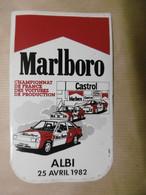 Autocollant - Championnat De France Des Voitures De Production - ALBI 25 Avril 1982 - MARLBORO - CASTROL - 81 TARN ALBI - Stickers