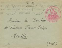 """Drôle De Guerre - Franchise """" NAVIGATION INTERIEURE EXPLOITATION MILITAIRE """" Sur Lettre De Compiègne Oise à Merville Nor - Guerra De 1939-45"""