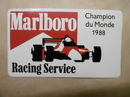 Autocollant - F1 RACING SERVICE Champion Du Monde 1988 Avec  MARLBORO - Stickers