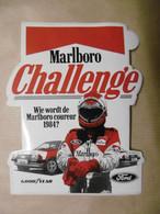 "Autocollant - CHALLENGE MARLBORO ""Wie Wordt De Marlboro Coureur 1984 ?"" Avec GOOD YEAR Et FORD - Stickers"