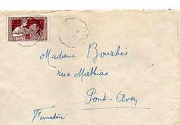 F 10 1924 Lettre Avec Courrier Riec Sur Belon  Pont Aven  (29) - 1921-1960: Période Moderne