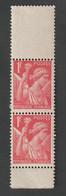 Variétés - 1939 - 41-   N° 433a - Type IRIS  -   Rouge , Provenant  De Carnets Non Confectionnés - Neuf Sans Charnière - - Curiosità: 1970-79  Nuovi