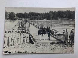 Foto Ak Soldats Francais Pontonbrug 1902 - Materiale