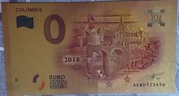 Billete 0 € Euro Souvenir Fantasía Dorado MUNDIAL FUTBOL RUSIA 2018: Colombia - Non Classificati