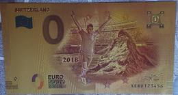 Billete 0 € Euro Souvenir Fantasía Dorado MUNDIAL FUTBOL RUSIA 2018: Suiza - Non Classificati