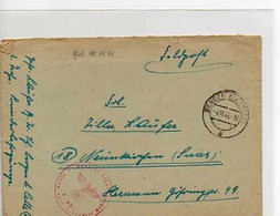 F 11 1944  Lettre + Courrier Feldpost - Cartas