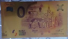 Billete 0 € Euro Souvenir Fantasía Dorado MUNDIAL FUTBOL RUSIA 2018: Polonia - Non Classificati