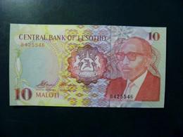 UNC Banknote Lesotho 1990 10 Maloti P-11 Horseman Mountains - Lesotho