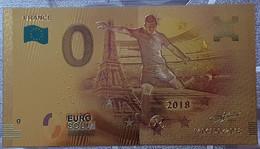 Billete 0 € Euro Souvenir Fantasía Dorado MUNDIAL FUTBOL RUSIA 2018: Francia - Non Classificati