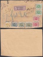 Belgique 1903 -   Fragment Document Taxée TX3 (x2)+TX5(x2) + TX6+TX11 Non Réclamée De Bleyberfg..... (DD) DC-9816 - Francobolli