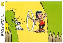 Tir Jeux Olympiques JO 92 Image Adhésif Autocollant La Vache Qui Rit Fromagerie Bel Astérix - Unclassified