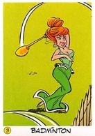 Badmington Jeux Olympiques JO 92 Image Adhésif Autocollant La Vache Qui Rit Fromagerie Bel Astérix - Unclassified