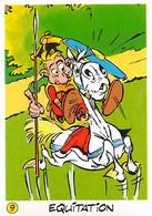 équitation Jeux Olympiques JO 92 Image Adhésif Autocollant La Vache Qui Rit Fromagerie Bel Astérix - Unclassified