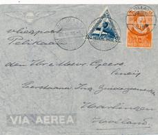 Nederlands Indië - 1933 - 12,5 Cent Willem I + 30c LP Op Pelikaan-brief Van LBnr TJIMAHI/1 Naar Vlaardingen / Nederland - Indie Olandesi