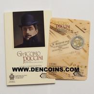 2 Euro SAN MARINO 2014 GIACOMO PUCCINI - UNC - NEUF - NUEVA - NEW 2€ EN SU BLÍSTER ORIGINAL - San Marino