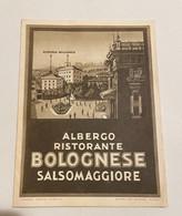 DEPLIANT ALBERGO-RISTORANTE BOLOGNESE SALSOMAGGIORE - Tourism Brochures