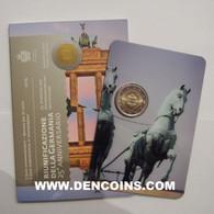 2 Euro SAN MARINO 2015 REUNIFICACIÓN DE ALEMANIA - UNC - NEUF - NUEVA - NEW 2€ EN SU BLÍSTER ORIGINAL - San Marino